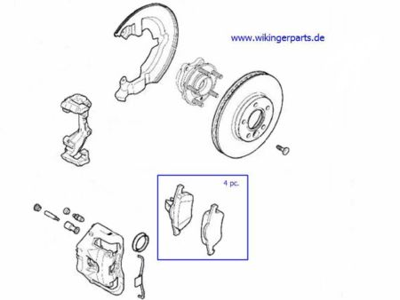 Volvo Brake Pad Kit 30742031