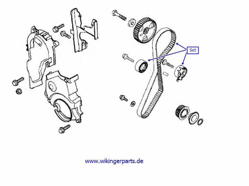 volvo timing belt kit 8653649  u203a wikingerparts