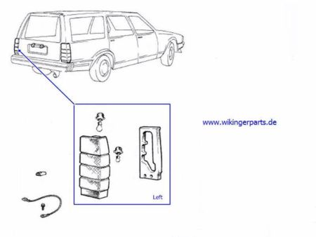 Volvo Tail Lamp 9127607