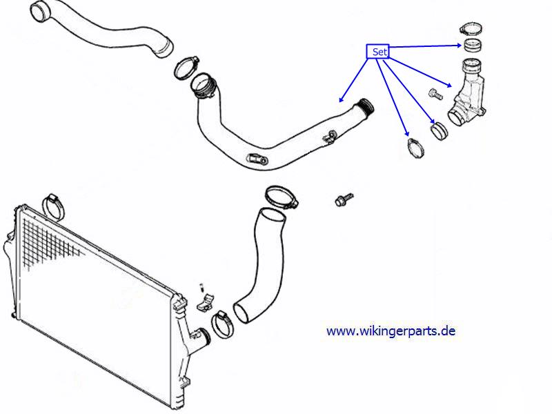 volvo charge air pipe 30794890  u203a wikingerparts