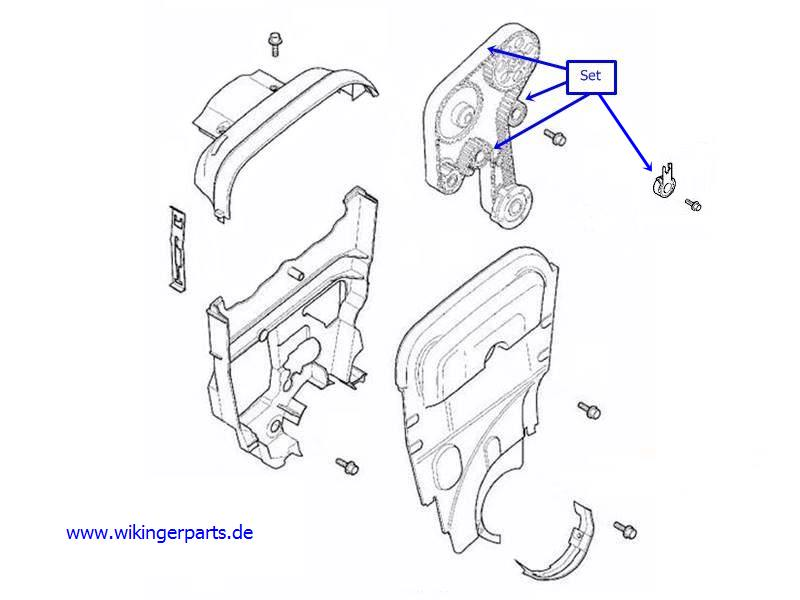 volvo timing belt kit 30758270  u203a wikingerparts