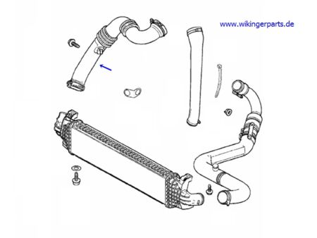 Volvo Charge Air Pipe 31261896